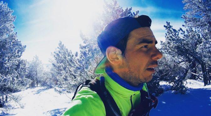 Miniature Snow trail Mon Aigoual