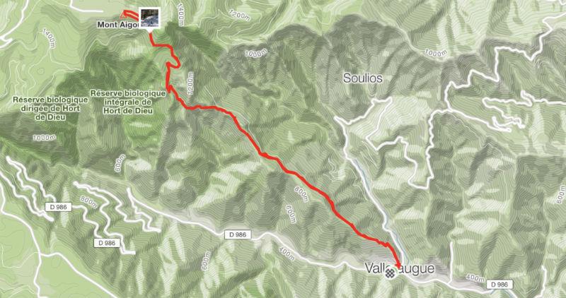 GPS Snow trail Mont Aigoual