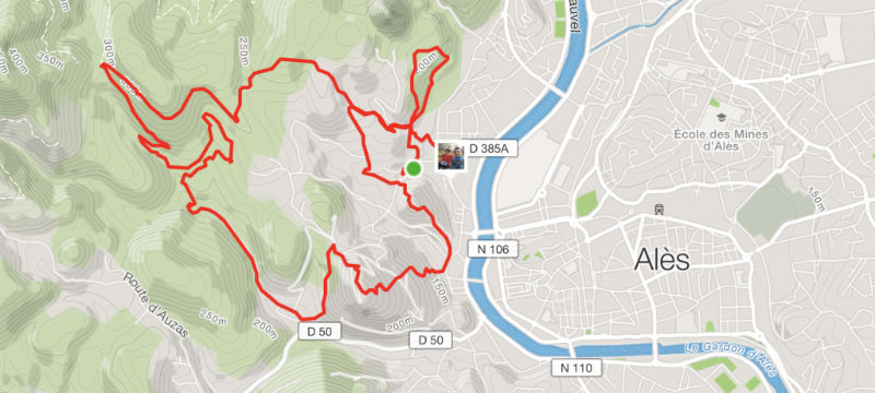 Trace GPS Meca Trail