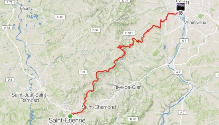 Trace GPS SaintLyon 2018